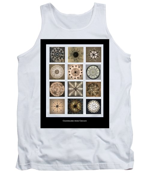 Chandeliers From Chicago Poster Tank Top