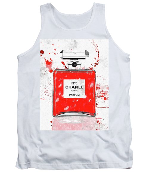 Chanel No 5 Red Tank Top