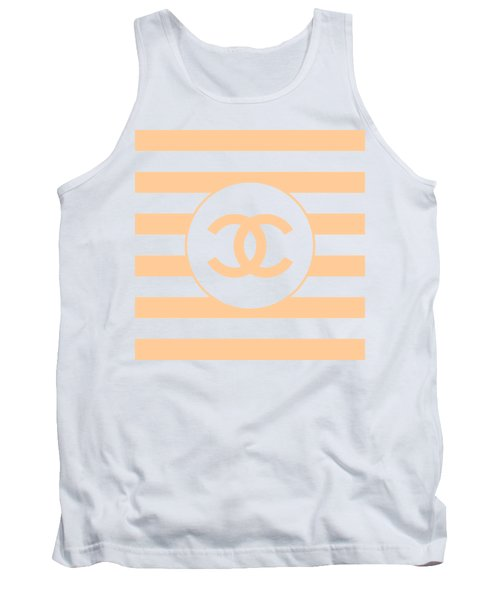 Chanel - Stripe Pattern - Beige - Fashion And Lifestyle Tank Top