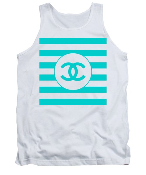 Chanel - Stripe Pattern - Blue - Fashion And Lifestyle Tank Top