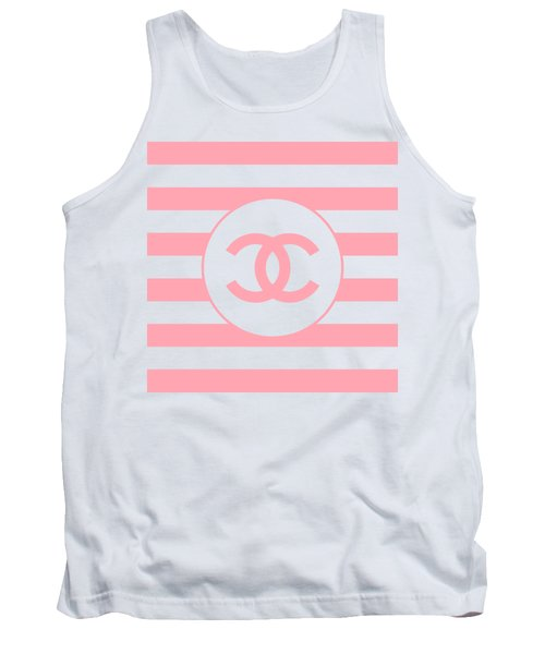 Chanel - Stripe Pattern - Pink - Fashion And Lifestyle Tank Top
