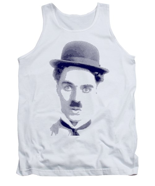 Charlie Chaplin - Cross Hatching In Blue Tank Top