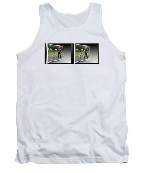 Tank Top featuring the photograph Chasing Bubbles - Gently Cross Your Eyes And Focus On The Middle Image by Brian Wallace