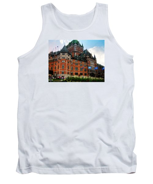 Tank Top featuring the photograph Chateau Frontenac by Robin Regan