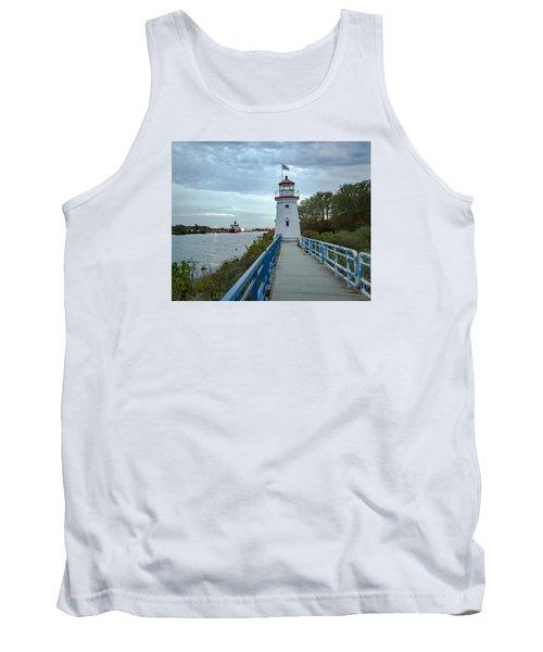 Cheboygan Crib Lighthouse Lake Huron, Lower Peninsula Mi Tank Top