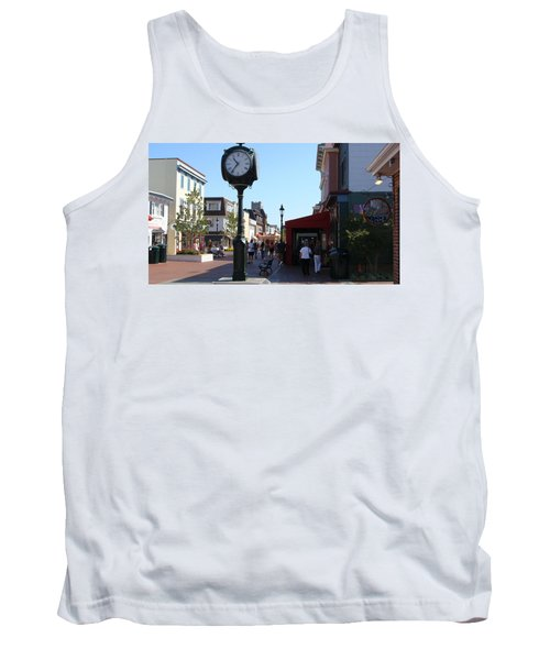 Checking Out The Shops In Cape May Tank Top by Rod Jellison