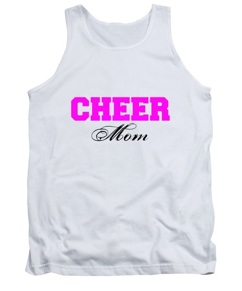 Cheer Mom Typography In Pink And Black Tank Top