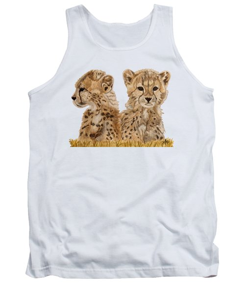 Cheetah Cubs Tank Top by Angeles M Pomata