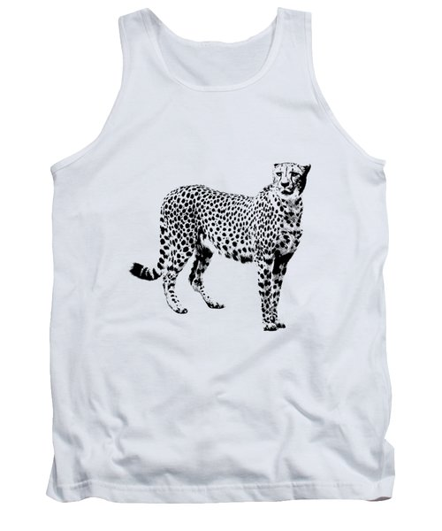 Cheetah Cutout Tank Top