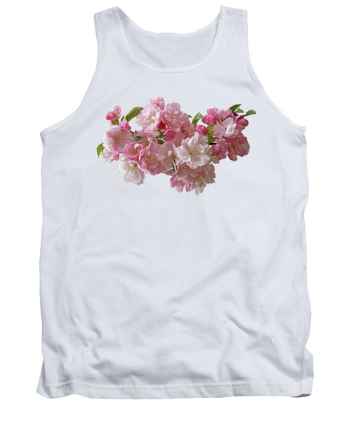 Cherry Blossom On Black Tank Top