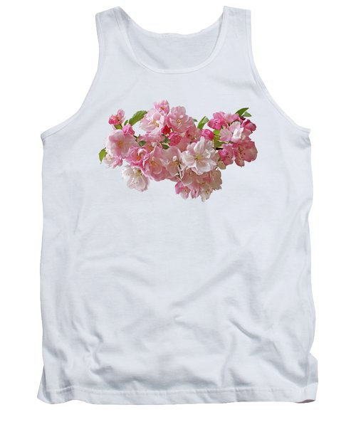 Cherry Blossom On White Tank Top