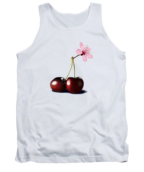 Tank Top featuring the drawing Cherry Blossom by Rob Snow