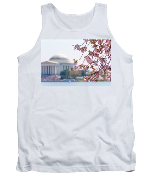 Cherry Blossoms And Jefferson Memorial Tank Top