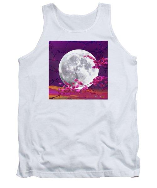 Cherry Moon  Tank Top by Robin Moline