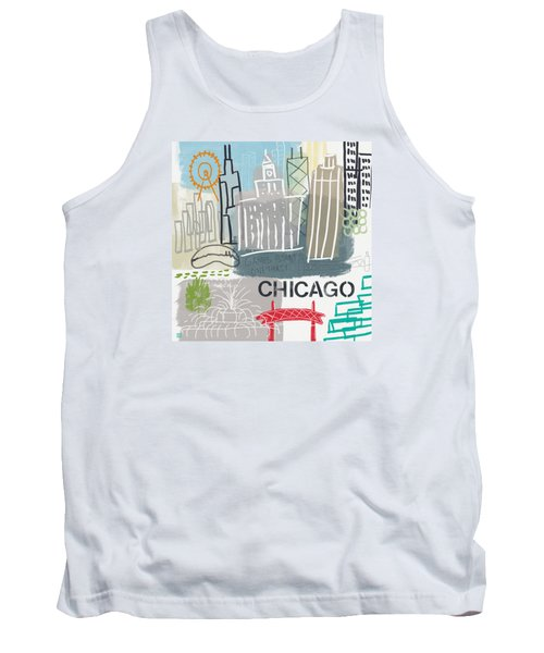 Chicago Cityscape- Art By Linda Woods Tank Top