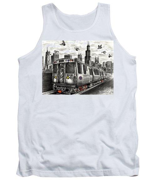 Chicago Cta Train Tank Top