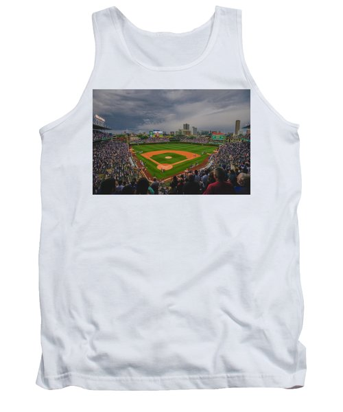 Chicago Cubs Wrigley Field 4 8213 Tank Top by David Haskett