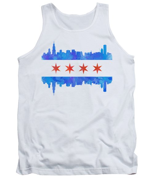 Chicago Flag Watercolor Tank Top