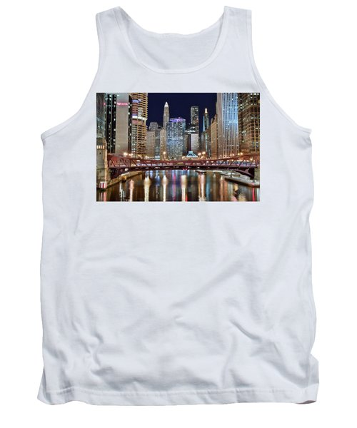 Chicago Full City View Tank Top by Frozen in Time Fine Art Photography