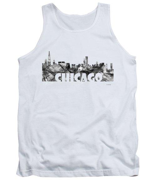 Chicago Illinios Skyline Tank Top by Marlene Watson