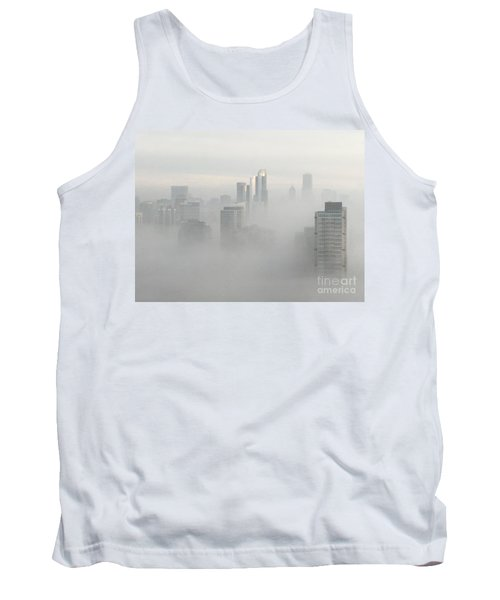 Chicago In The Clouds Tank Top by Kate Purdy