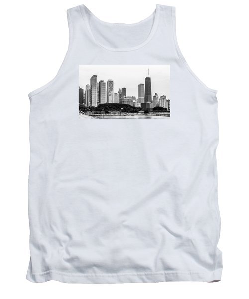 Chicago Skyline Architecture Tank Top by Julie Palencia