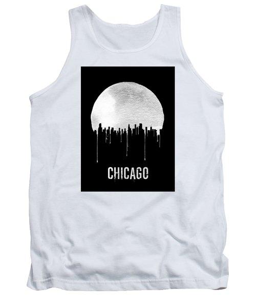 Chicago Skyline Black Tank Top by Naxart Studio