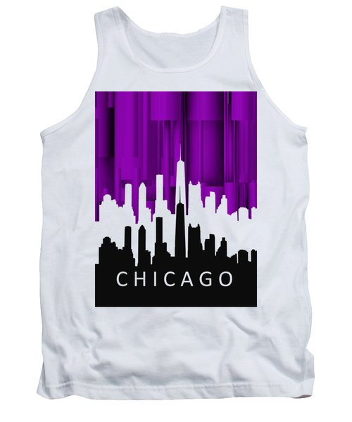 Chicago Violet In Negative Tank Top
