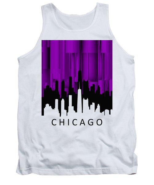 Chicago Violet Vertical  Tank Top