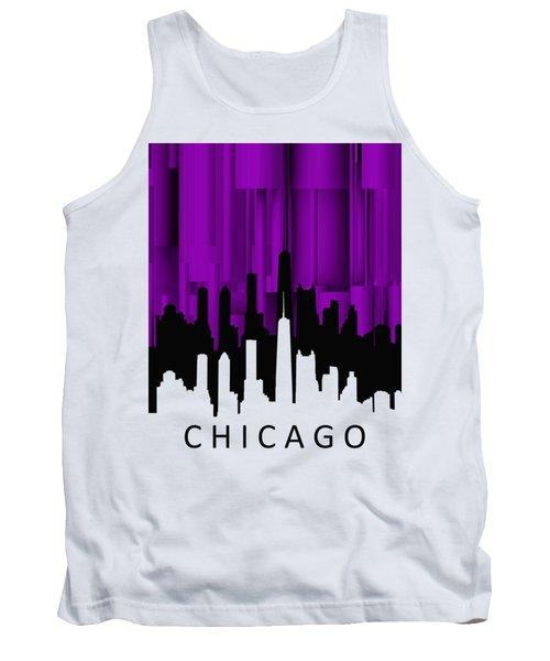 Tank Top featuring the digital art Chicago Violet Vertical  by Alberto RuiZ