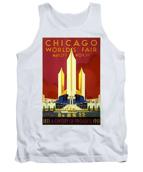 Chicago Worlds Fair 1933 Poster Tank Top
