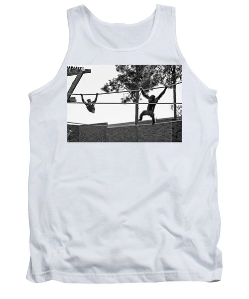 Tank Top featuring the photograph Chimps In Black And White by Miroslava Jurcik