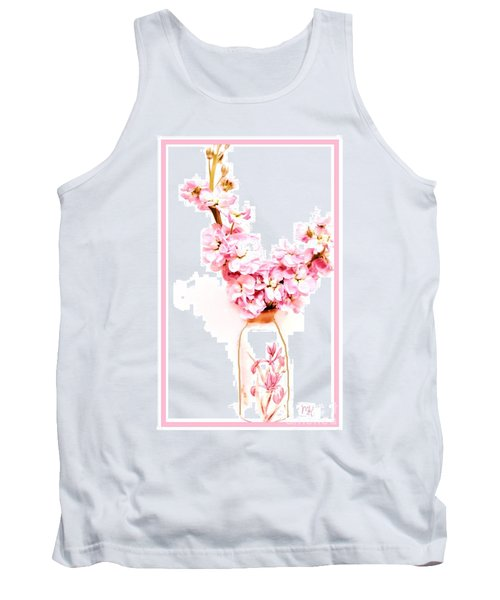 Tank Top featuring the digital art Chinese Bouquet by Marsha Heiken