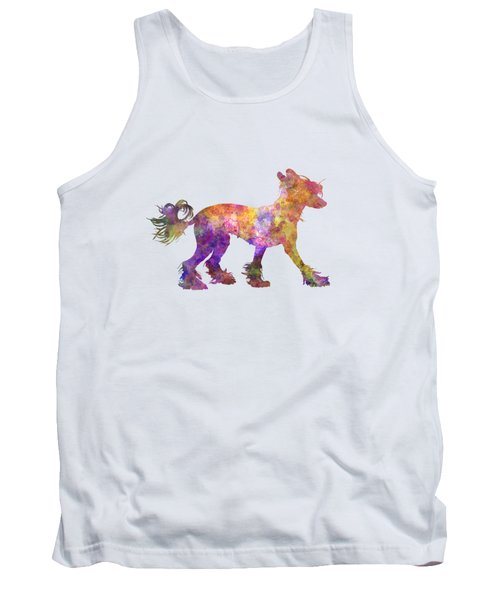 Chinese Crested Dog 01 In Watercolor Tank Top