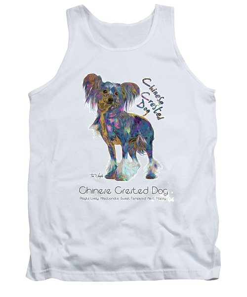 Chinese Crested Dog Pop Art Tank Top