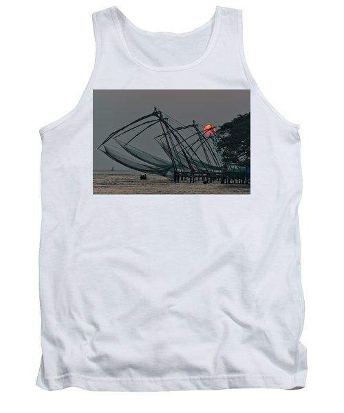 Tank Top featuring the photograph Chinese Fishing Nets, Cochin by Marion Galt