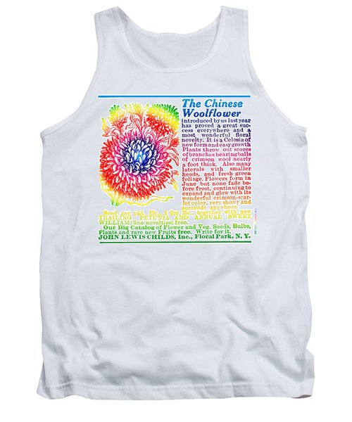 Chinese Woolflower Tank Top