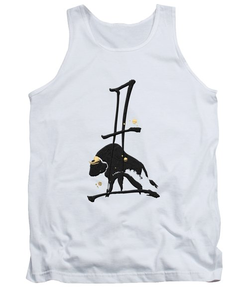 Chinese Zodiac - Year Of The Ox On Rice Paper Tank Top