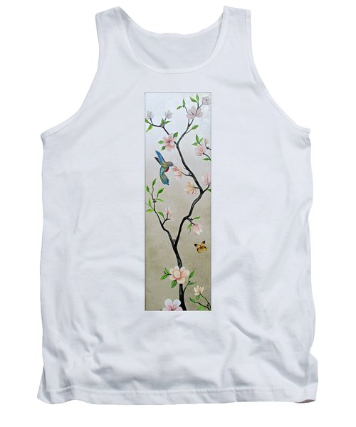 Chinoiserie - Magnolias And Birds #5 Tank Top