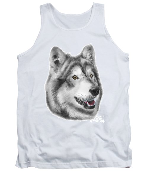 Tank Top featuring the drawing Chinook by Peter Piatt