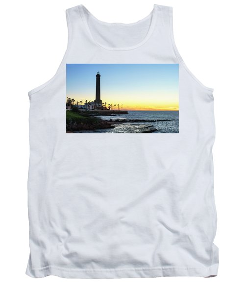 Chipiona Lighthouse Cadiz Spain Tank Top by Pablo Avanzini
