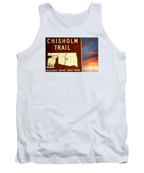 Tank Top featuring the photograph Chisholm Trail Oklahoma by Bob Pardue