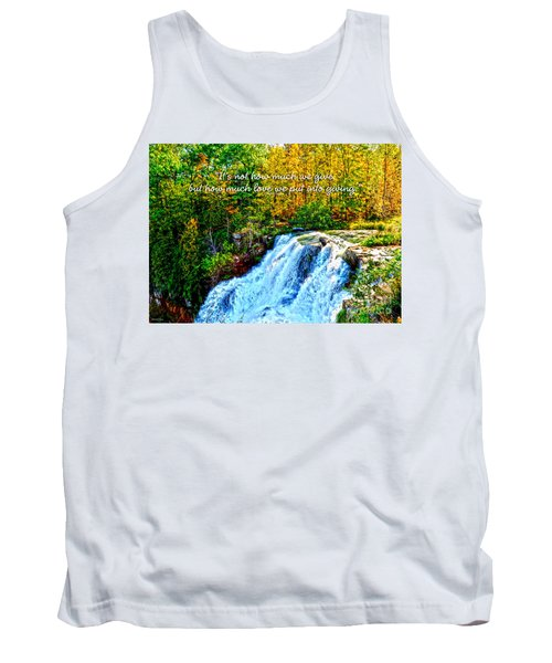 Tank Top featuring the photograph Chittenango Falls, Ny Mother Teresa  by Diane E Berry