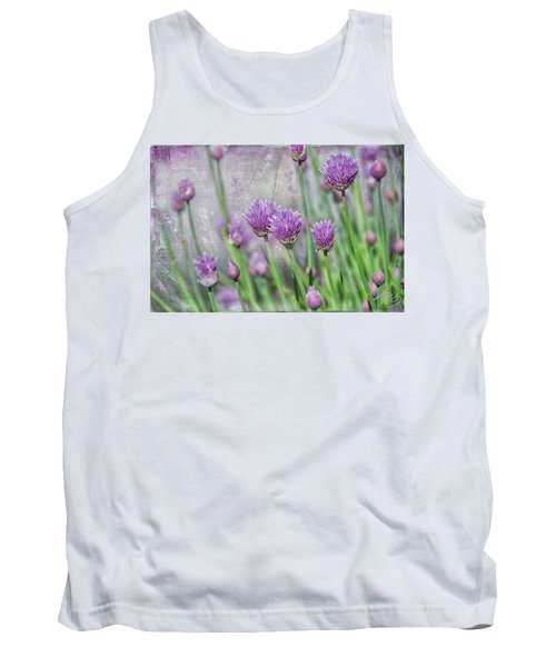 Chives In Texture Tank Top