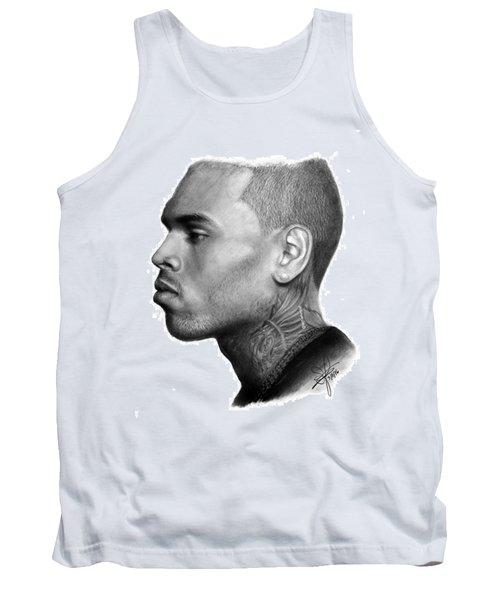 Chris Brown Drawing By Sofia Furniel Tank Top by Jul V