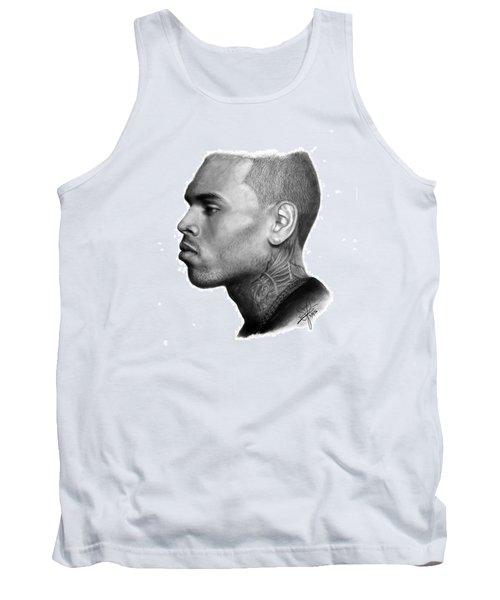 Chris Brown Drawing By Sofia Furniel Tank Top