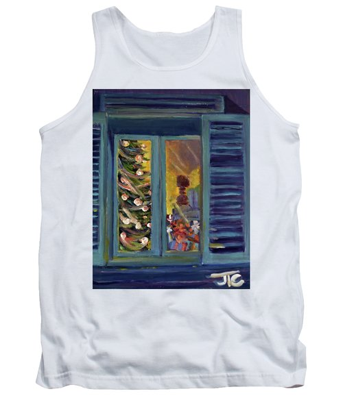 Tank Top featuring the painting Christmas 2016 by Julie Todd-Cundiff