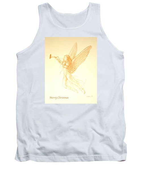 Christmas Angel With Trumpet Tank Top