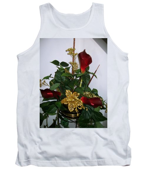 Christmas Arrangemant Tank Top by Sharon Duguay
