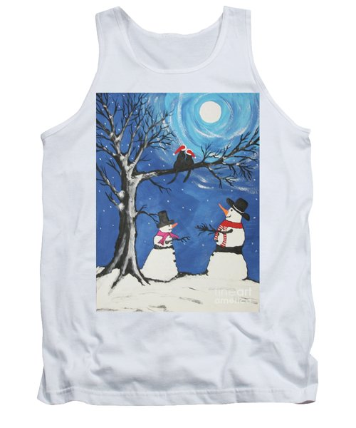 Christmas Cats In Love Tank Top by Jeffrey Koss
